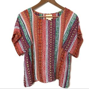 Anthropologie Maeve Size Small Aztec Swing Top